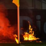 Fuego en el Fortuna-Hertha