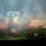 Hinchas del Fortuna Düsseldorf en el campo