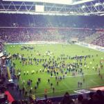 Invasión de campo en el Fortuna-Hertha