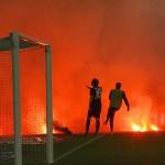 Caos en la vuelta de la Relegation