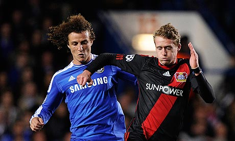 Andre Schurrle, right, goes past Chelsea's David Luiz during a Champions League tie last season