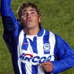 Alves celebra un gol con el Hertha