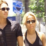 Alex Alves con su ex mujer Nadia
