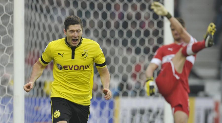Robert Lewandowski anoto el gol de la victoria para el BVB