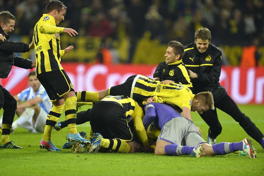 La alegría se desató en el BVB al finalizar el partido