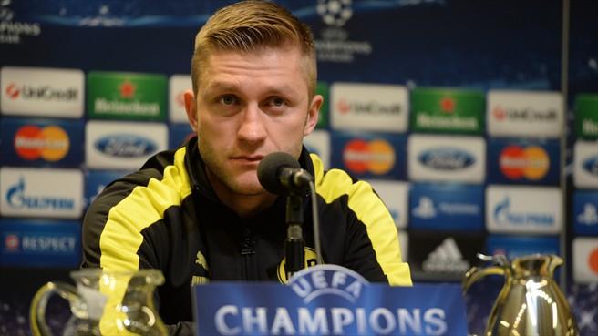 Blaszczykowski en rueda de prensa esta tarde. Foto: uefa.com