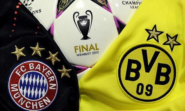 Jerseys of German football clubs Bayern