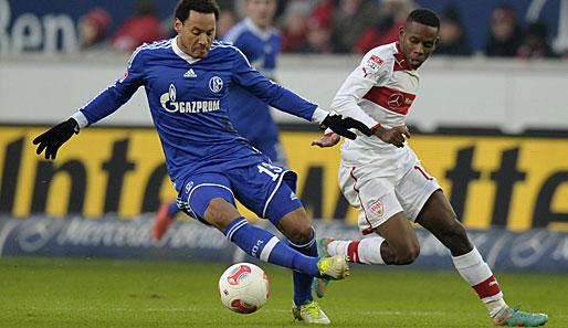 Traoré (a la derecha) en un partido ante el Schalke 04 disputado la pasada temporada.   ©getty