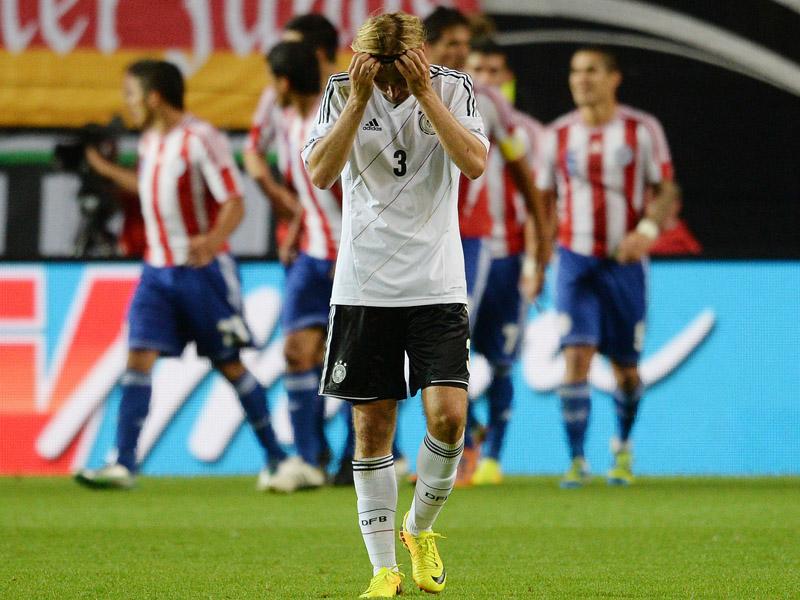 Marcel Schmelzer tras el segundo tanto de Paraguay. Foto: Getty Images.