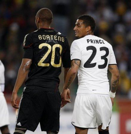 Los hermanos Boateng ya coincidieron en el Mundial de 2010 en Sudáfrica. A la izquierda Jérôme #20 representando a Alemania, y a la derecha Kevin-Prince #23, con la camiseta de Ghana.