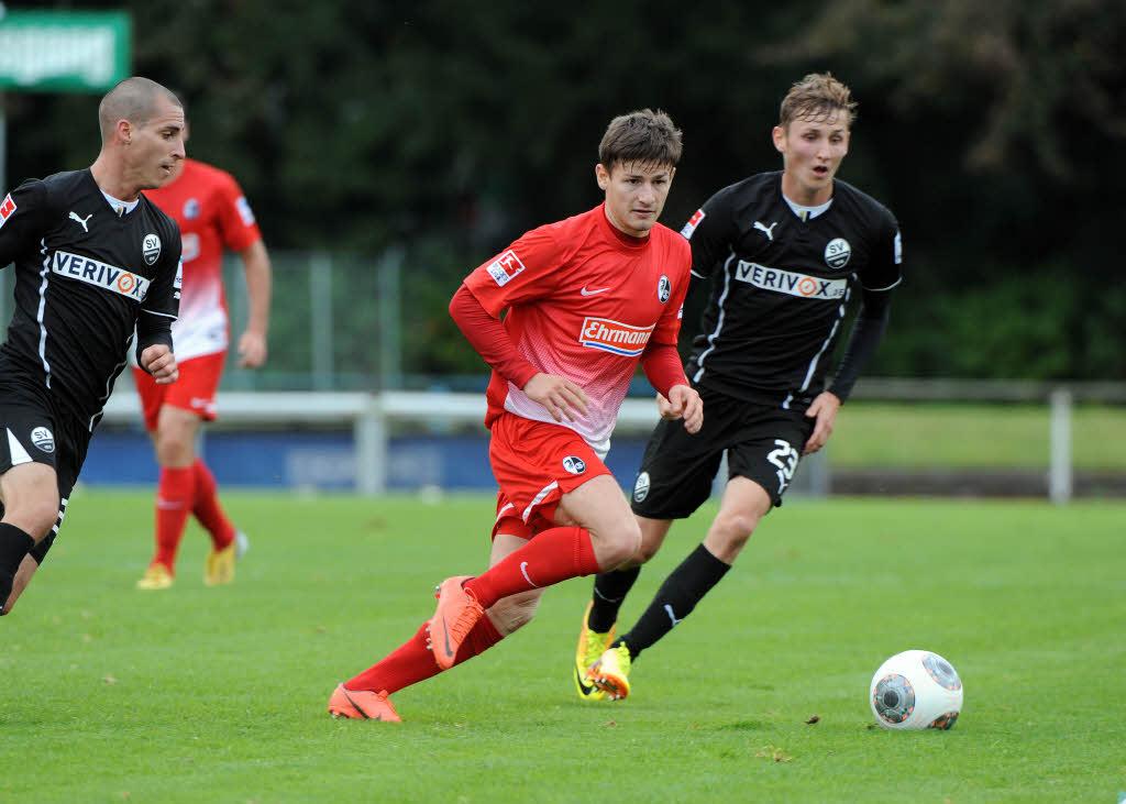 Pilar jugó 60 minutos en su primer partido con el SportClub. Fuente: Badische Zeitung / Foto: Michael Heuberger