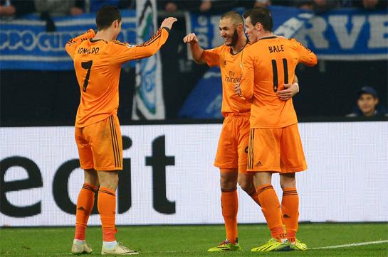 El indomable trío madridista del encuentro de ida (Bale-Cristiano Ronaldo-Benzema), no podrá juntarse para el duelo de mañana. Foto: Getty Images.