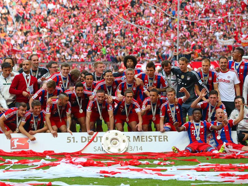 Intocable en el campeonato doméstico, el Bayern se ha alzado con su título número 54 en la Bundesliga. Foto: Getty Images.