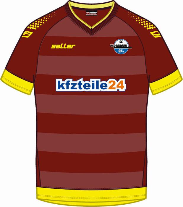 Nueva camiseta Paderborn 2014/2015 visitante