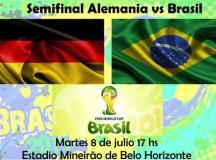 A qué hora juega Brasil vs Alemania
