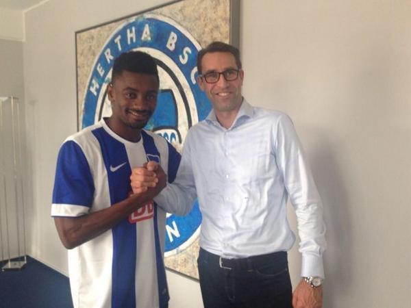 Kalou llega a Berlin en busca de realzar su carrera deportiva, en declive tras su salida del Chelsea. Foto: herthabsc.de