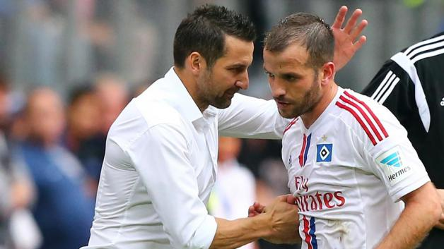 Zinnbauer y van der Vaart, los abanderados para iniciar la remontada. Foto: www.bundesliga.de