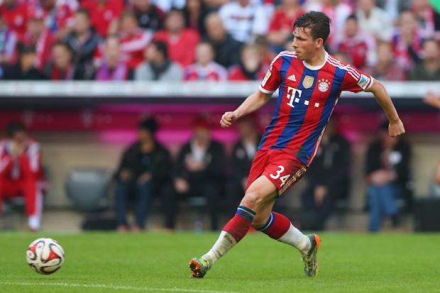 Höjbjerg en un partido de temporada con el Bayern. Foto: talksport.com