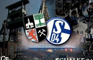 Escudo de Gelsenkirchen y escudo del Schalke. Foto: schalker-block5.de