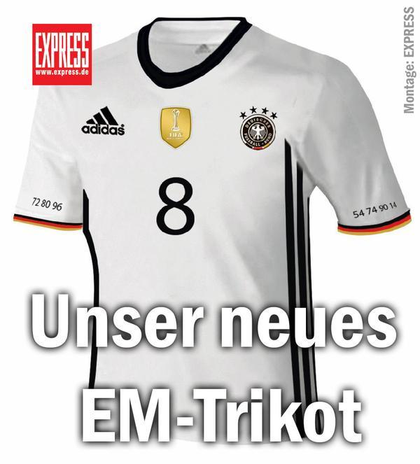 El rotativo Express coquetea con la idea de un escudo de la DFB más colorido. Foto vía express.de