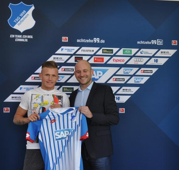 El mediocampista firmó hasta 2019. Foto: Twitter oficial de Hoffenheim (@achtzehn99)