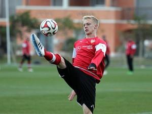 Baumgartl en los entrenamientos. Foto: kicker.de