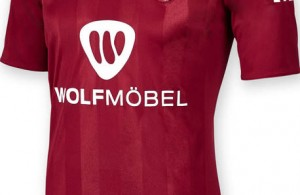 Camiseta del FC Nürnberg para la temporada 2015-16. Fuente: footyheadlines.com