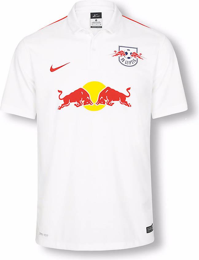 Nueva equipación del RB Leipzig de local para la temporada 2015/16. Fuente: nurfussball.com