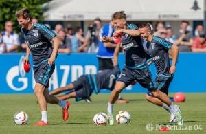 Caras felices en los entrenamientos del Schalke al empezar la pretemporada... ¿Buen augurio? Fuente: Facebook oficial del Schalke en español