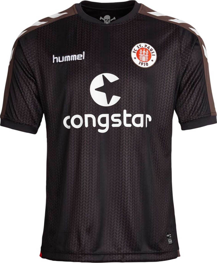 La nueva camiseta local del St. Pauli 2015/16. Fuente: nurfussball.com