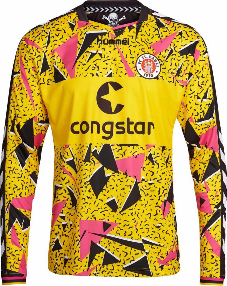 Los nuevos uniformes de portero del St. Pauli. Fuente: nurfussball.com