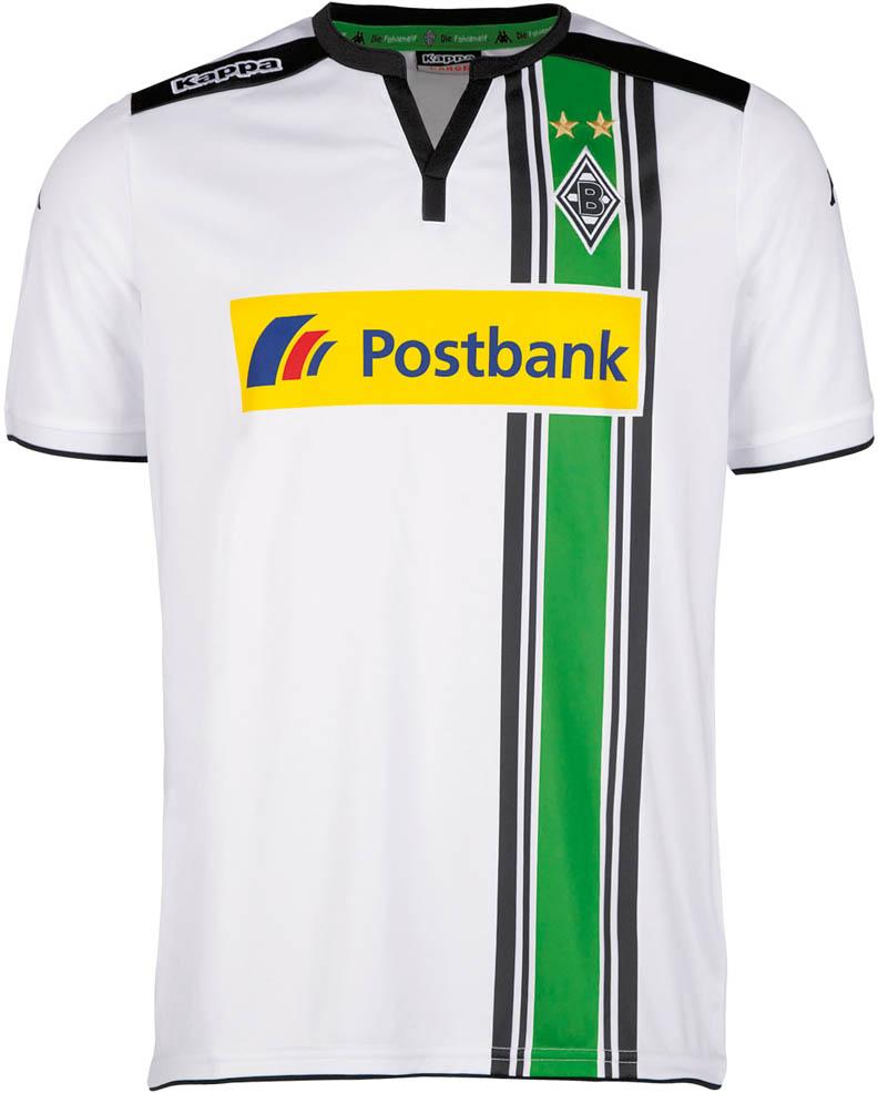 Nuevo uniforme local del 'Gladbach' para 2015/16. Fuente: nurfussball.com