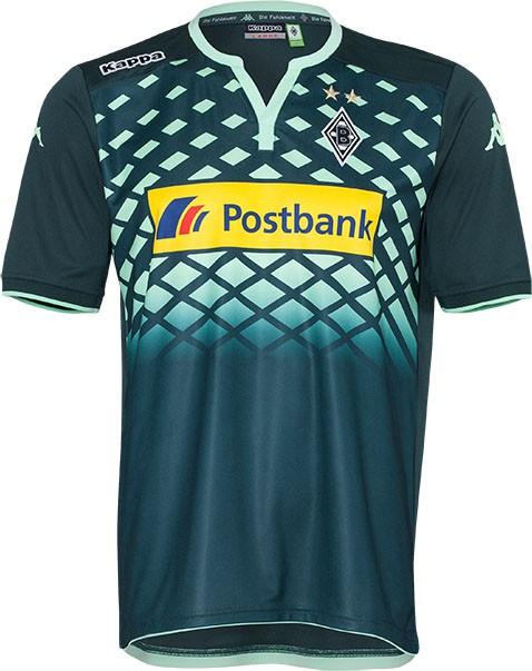 Nuevo uniforme de visitante del 'Gladbach' para 2015/16. Fuente: nurfussball.com