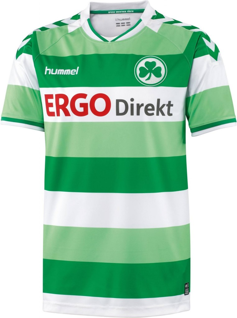 La camiseta local del Greuther Fürth 2015/16 será la misma que la de 2014/15. Fuente: nurfussball.com