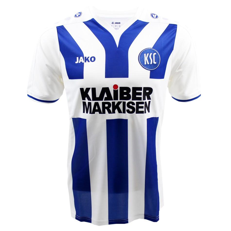 Nueva camiseta de local del Karlsruhe para 2015/16. Fuente: nurfussball.com