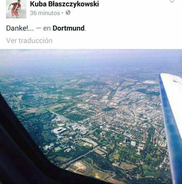 Así se despidió Blaszczykowski vía Twitter. Foto: cuenta oficial del jugador.