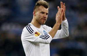 Yarmolenko tiene un promedio de 14 goles por temporada en Kiev. Foto: telegraph.co.uk// Reuters. Peter Cziborra
