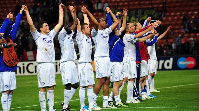 Con un partido brillante y un Raúl inspirado, Schalke hizo historia en Milán en 2011. Foto de uefa.com