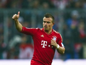 Xherdan Shaqiri en su época en el club bávaro. Imagen procedente de: goal-news.com