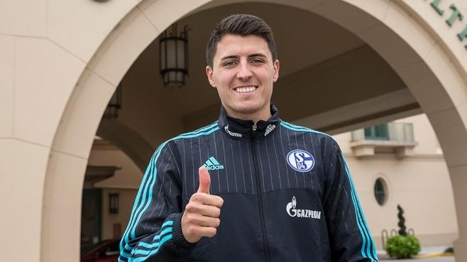 Alessandro Schöpf ya es parte del Schalke 04, después de ser transferido desde el Nuremberg de la segunda división. Foto: Prensa Schalke 04