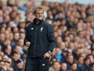Jürgen Klopp en un encuentro de la actual temporada. Siempre mostrando su lado más expresivo. Imagen procedente de: thisisanfield.com