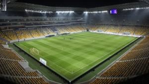 Arena Lviv, sede donde el Shakhtar disputa sus embites debido al conflicto entre Ucrania y Rusia. Imagen procedente de: thefa.com