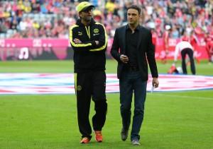 Sascha Fligge (derecha) junto a Jürgen Klopp (izquierda) hace algunas temporadas. Imagen procedente de: bvb-fotos.de