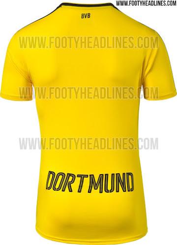 camiseta local borussia dortmund 2016-17