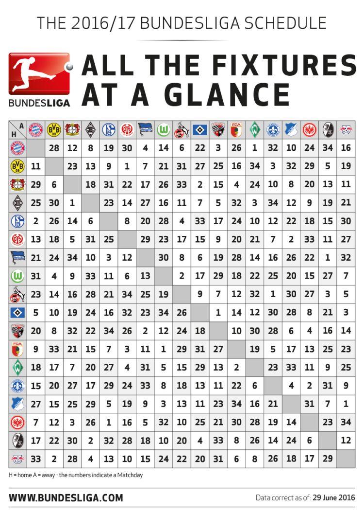 Bundesliga Calendario.Anunciado El Calendario De La 1 Bundesliga 2016 17 Mi