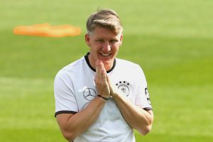 ASCONA, SWITZERLAND - MAY 31:  Bastian Schweinsteiger of Germany reacts during a training session at Stadio communale on day 8 of the German national team trainings camp on May 31, 2016 in Ascona, Switzerland.  (Photo by Alexander Hassenstein/Bongarts/Getty Images)