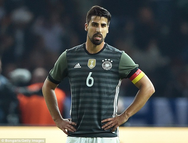 Sami Khedira. Foto vía DailyMail.co.uk