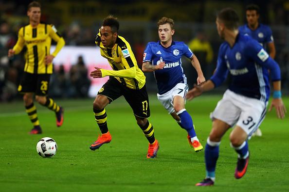 Pierre-Emerick Aubameyang fue muy bien controlado por una férrea defensa del Schalke 04, que no le dejo prácticamente ninguna opción durante el encuentro.
