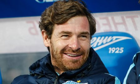 ST. PETERSBURG, RUSSIA - APRIL 03: FC Zenit St. Petersburg head coach Andre Villas-Boas smiles during the Russian Football League match between FC Zenit St. Petersburg and PFC CSKA Moscow at Petrovsky stadium on April 3, 2016 in St. Peterburg, Russia. (Photo by Epsilon/Getty Images)