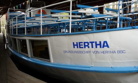 El barco de vapor que da su nombre al Hertha de Berlín